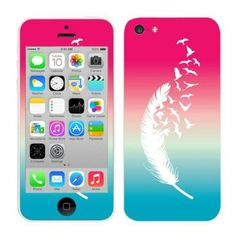 Amazon.com: Fincibo (TM) Apple iPhone 5C Light Lite Accessories Skin Vinyl Decal Sticker - Triangle Let It Be: Cell Phones & Accessories