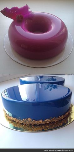 Cakes with mirror finish