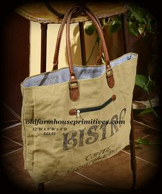 """Mona B"" Recycled Canvas Bag (Bistro Graphic)"
