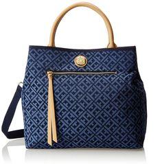 Tommy Hilfiger Tommy Club Double Handle T Shopper Shoulder Bag