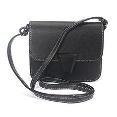Voberry Women Solid Color Leather Message Shoulder Handbag Crossbody Satchel Bag (Black) for sale Best Handbags, Fashion Handbags, Fashion Bags, Nice Handbags, Black Shoulder Bag, Shoulder Bags, Satchel Bag, Crossbody Bags, Black Cross Body Bag