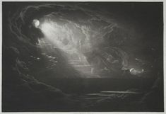 """""""Paradise Lost. The Creation of Light"""" by John Martin (1789-1854, United Kingdom)"""