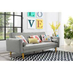 $399 couch: 9 By Novogratz Vintage Linen Mix Futon, Multiple Colors