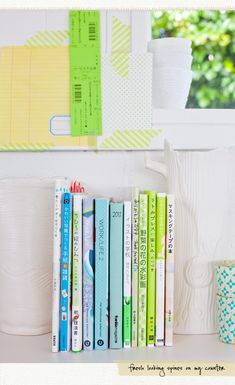 Love the colors on these spines  @Creative Mint blog