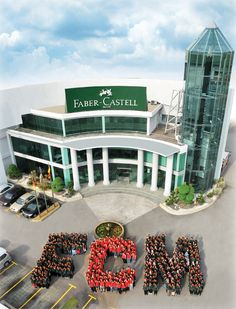 Faber-Castell Malaysia.  The world's biggest pencil can be seen through the glass.