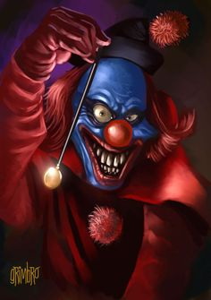 Scary Killer Clowns   Digital Drawing: 50 Scary Clowns that Will Haunt in Your Dreams