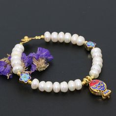 2 types Bohemia style bracelet natural white freshwater cultured abacus pearl 6*8mm beads banglcloisonne jewelry 7.5inch B2757