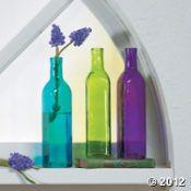 Purple Bottle Vases