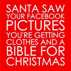 Santa Saw Your Facebook Pictures HTV Tshirt by My Paper Craze