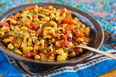Black-eyed Pea Masala (8 servings, 178 cal, 11 g protein per serving)