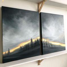 City Landscape, Landscape Paintings, Art Pictures, Art Images, Winter Painting, Painting Process, Acrylic Art, Art Oil, Painting Inspiration