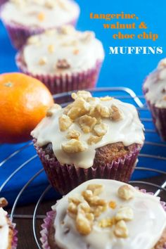 Banana Walnut Crumble Muffins with Chocolate Chips Recipe | Muffins ...