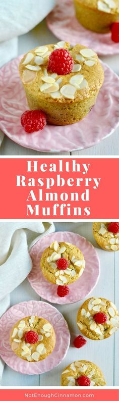Perfect for breakfast or as a snack, these healthy muffins are refined sugar free and gluten free! See the recipe on NotEnoughCinnamon.com #cleaneating