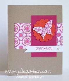 Stampin' Up!  Clean and Simple  Julie Davison at Julie's Stamping Spot -- Stampin' Up!