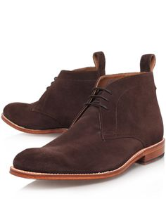 Grenson Brown Marcus Suede Desert Boots | Men's Shoes | Liberty.co.uk