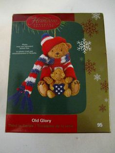 Old Glory Christmas Ornament Patriotic Christmas Teddy Bears Carlton Cards 2005