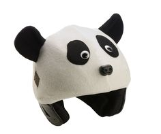 Panda-monium has struck ever since the arrival of the giant Pandas in Canada from China Your child will share this excitement while sporting his or her very own Tail Wags Panda helmet cover! White and black polar fleece Available in child size only Washing instructions hand wash and lay flat to dry