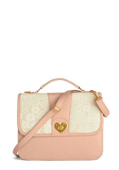 Perfect Plus One Bag - Pink, Solid, Lace, International Designer, Faux Leather, Tan / Cream, Pastel