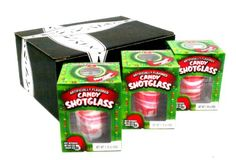 How cute are these?? Peppermint Candy Cane Edible Shot Glasses in Gift Box (Includes 3 Shot Glasses): http://www.amazon.com/dp/B002V7FDP2/ref=cm_sw_r_pi_dp_UQfTsb05AK6BS2DS