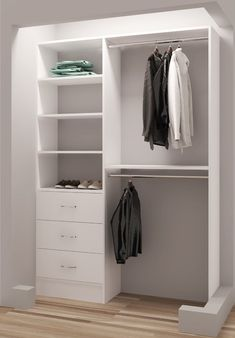 Latitude Run Tarnby Double Closet System Small Closet Design, Walk In Closet Small, Double Closet, Bedroom Closet Design, Small Closets, Kid Closet, Closet Designs, Closet Ideas, Small Built In Wardrobe Ideas