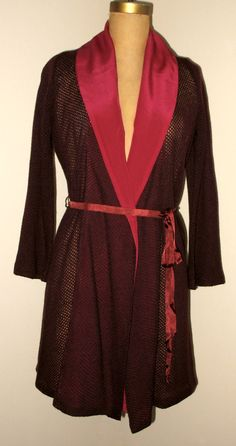 Kimono Style ShawlCardigan in Burgundy by speakeasyboutique, $95.00