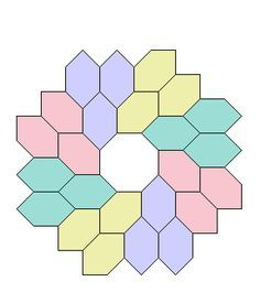 Hexagon tessellation Maybe use for English paper piecing.  Octagon  Honeycombs PaperPieces.com