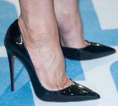 """Jennifer Aniston completed the ensemble with """"Iriza"""" pumps from Christian Louboutin"""