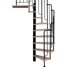 DOLLE 4-ft 7-in Barcelona Black Spiral Staircase Kit.  Thinking about buying this for my house its cheaper than adding on a mud room