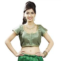 """Green blouse with gold embroidery - Ready Made Padded Saree Blouse. """"Ra apparels"""" launched by MuHeNeRa Ra 16"""
