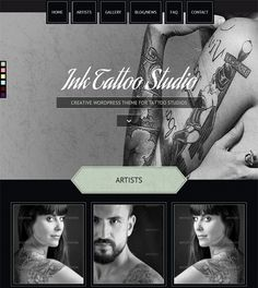 This WordPress theme for tattoo studios offers 6 predefined color variations, custom post types, a responsive layout, shortcodes, Bootstrap integration, a filterable isotope gallery, parallax effects, a widgetized footer and sidebar, and more.