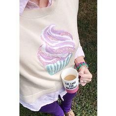 LC Lauren Conrad for Kohl's Cupcake Sweater