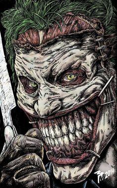 Joker Face art By Muttleymark Joker Comic, Joker Batman, Batman Art, Comic Art, Comic Villains, Comic Book Characters, Der Joker, Batman Metal, Jokers Wild
