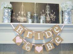 Bridal Shower banner,Bachelorette, bridal shower decor, Bride to be banner, wedding banner, bridal shower, decorations, wedding banners on Etsy, $18.00