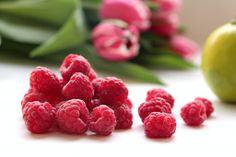Beautiful fresh raspberries