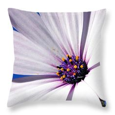 "Daisy in the Sky Throw Pillow 14"" x 14"" by Kaye Menner"