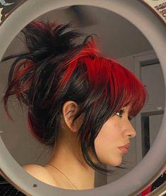 Hair Color Streaks, Hair Dye Colors, Cool Hair Color, Edgy Hair Colors, Cut My Hair, Hair Cuts, Red Hair Inspo, Alternative Hair, Coloured Hair
