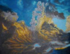 I love this painting :) can any one find the shape in the clouds? mtg players have an advantage xD