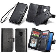 BRG Samsung Galaxy S9 Plus Wallet Detachable Magnetic Case Black