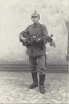"German soldier WW1 ""You gotta sing loud if you want to stop wars and stuff."" Arlo Guthrie, 1972"