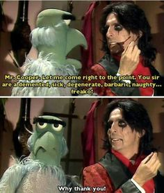 The Muppet Show & Alice Cooper Alice Cooper, Jim Henson, Pop Punk, Music Is Life, My Music, Die Muppets, Fraggle Rock, The Muppet Show, Rainbow Connection