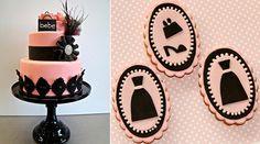 bolos de forma pelo Butter End Cakery esquerda, Pasteles Alma, certo