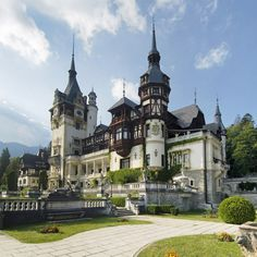 Peles Castle in Romania. Stunning architecture inside! No cameras allowed inside to protect original paintings from fading