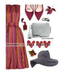 """""""Outfit Of The Day: House Of Holland Chevron-Jacquard Dress"""" by tracey-mason ❤ liked on Polyvore featuring House of Holland, Zara, Neutrogena, Anya Hindmarch and Eugenia Kim"""
