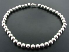 Sterling Silver Mexican 18 inch Ball Bead Necklace #SilverBead