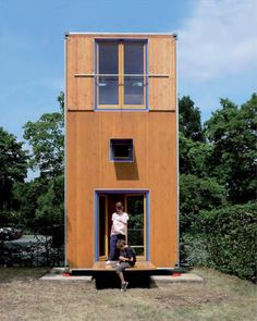 German architectural firm Slawik designed this small house as emergency or temporary housing.  The footprint is only 7 sq m.