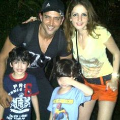 Hrithik with his Family.