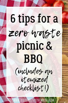 Summer time is for gardening, spending time outside, and picnics and BBQs. However, often times, picnics and BBQs involve a lot of single use/disposable products, which can be hard to navigate if you're on a low/zero waste journey. This post shares six zero waste picnic and BBQ tips, and breaks each tip down for whether you're attending or hosting. The post also includes a zero waste picnic/bbq checklist, so that you can be confident you'll have everything you may need. Click to learn more! Bbq Tips, Green Living Tips, Together We Can, Picnics, Sustainable Living, Zero Waste, Confident, Summer Time, The Creator