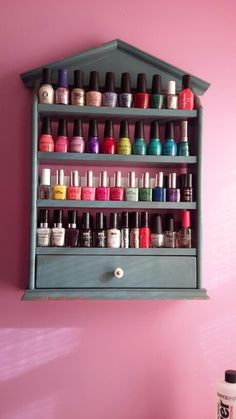 Just needs repainting and it's good to go! Nail Rack, Nail Polish Storage, Wine Rack, Diy Crafts, Nails, Home Decor, Finger Nails, Model, Projects