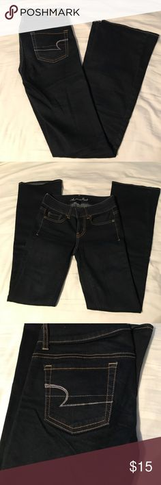 American Eagle jeans Dark wash! Only worn a few times, great condition! American Eagle Outfitters Jeans Boot Cut