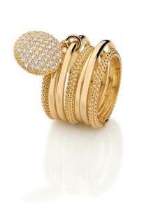 Women's Diamond Ring by Carla Amorim anchor ring Golden Jewelry, I Love Jewelry, Jewelry Box, Fine Jewelry, Unique Jewelry, Gold Fashion, Fashion Rings, Fashion Jewelry, Bling